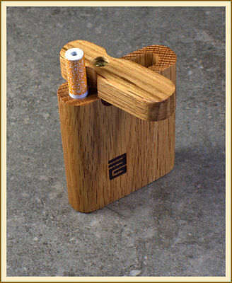 """Handcrafted 3"""" Oak Dugout with Cigarette Bat"""