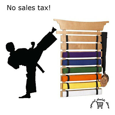 Martial Arts Belt Display Karate Medal Holder Taekwondo Trophy Rack Wall Stand
