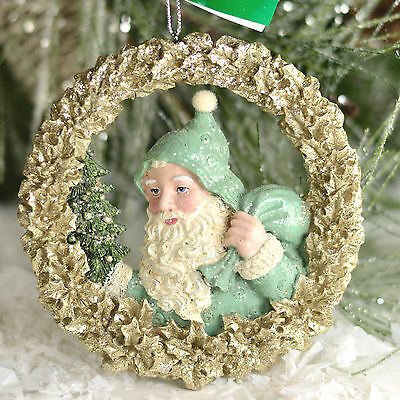 Victorian Santa 4 Inch Kurt Adler Winter Whispers Christmas Ornament G15b