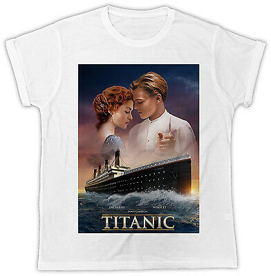 Titanic Leonard Dicaprio Movie Poster Ideal Gift Birthday Present Cool T Shirt