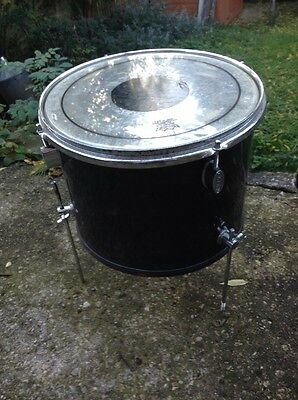 "Free P&P. 13"" x9"" Concert Floor Tom w Legs. Great For Busking! Small Gigs. Black"