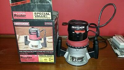 Craftsman Double Insulated 25000 R.P.M 1-3/4 HP 8.5 Amp wood Router With Box
