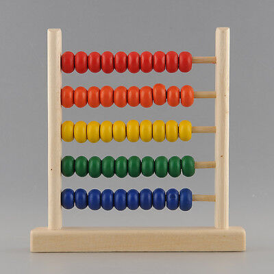 5-Row Bead Wooden Abacus Child Educationnal Calculate Learning Teaching