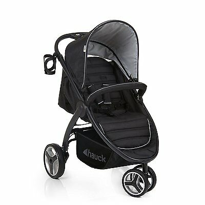 Hauck Black Lift Up 3 Pushchair Stroller From Birth Baby Jogger Buggy - 148150