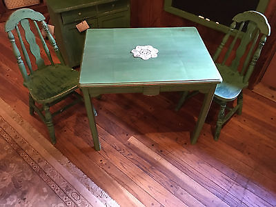 Vintage 1930's Art Deco Child size table and chairs
