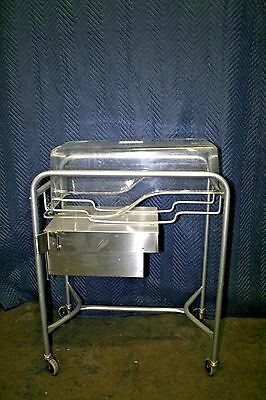 Stainless Steel Infant Bassinet with Plastic Basket and Drawer