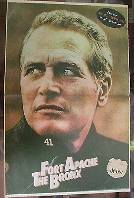 Paul Newman Celebrity Poster 1981 From A Magazine In Spanish