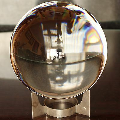 Quality Crystal BACCARAT SIRIUS Desk Globe, Nickel Plate Stand, Fully Marked