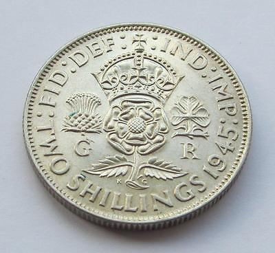 George VI - 1945 Florin (two shillings)  - Very good collectable coin