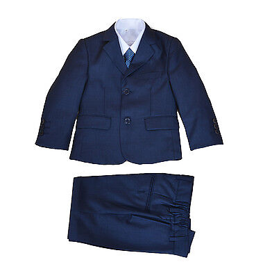 New Blue 5 Piece Boy Suits Boys Wedding Suit Page Boy Party Prom 2-12 Years