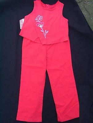 BNWT Ginkana 2 pc set outfit top & trousers 104 3 - 4 cotton / linen