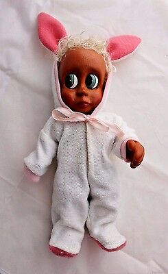 Harald NABER Wooden Baby B. John Naber Kids Collectible Doll Bunny PJ 1996 Ugly