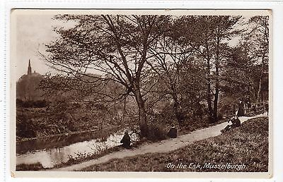 ON THE ESK, MUSSELBURGH: East Lothian postcard (C12979)