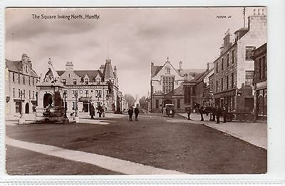 THE SQUARE LOOKING NORTH, HUNTLY: Aberdeenshire postcard (C12301)