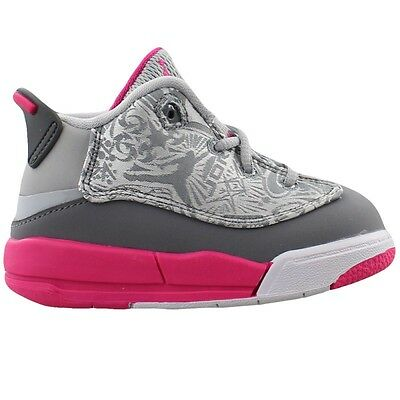 innovative design cb44a fd588 Nike Toddler Jordan Dub Zero (TD) NEW AUTHENTIC Grey Pink 725744-007