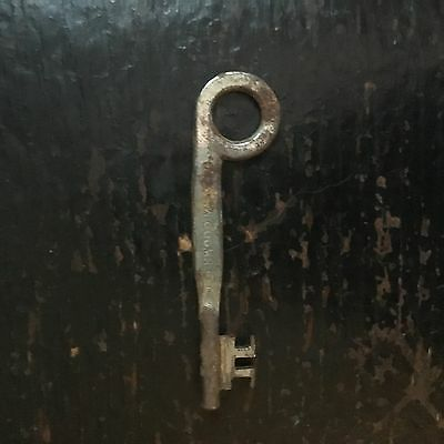 Unique Shape Vintage Antique Lockwood Skeleton Key old NOT open barrel 2 3/4""