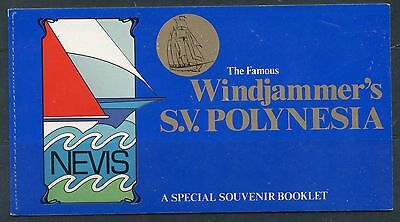 Weeda Nevis 116, 117b VF complete booklet, 1980 Ships and Boats issue, 2 panes