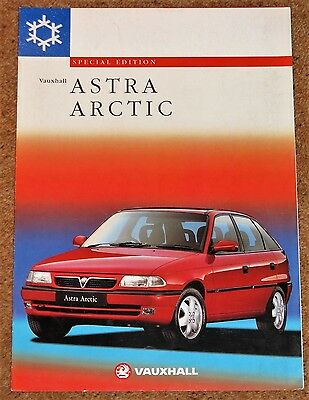 1997 Mk3 VAUXHALL ASTRA ARCTIC Sales Brochure - Special Edition Hatch & Estate