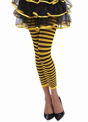 Bumble Bee Leggings Animal Striped Fancy Dress Halloween Adult Costume Accessory