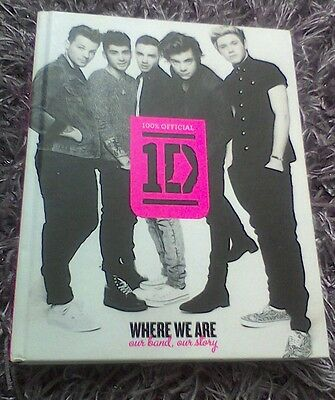 100% Official 1D Where We Are Our Band, Our Story One Direction Hardback Book