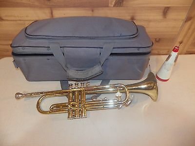 Vintage Holton Collegiate Trumpet, With Mouthpiece, Mute, Soft Case - Free Ship!