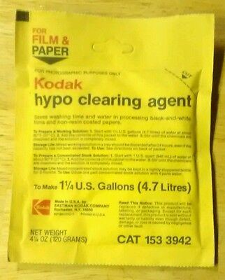 Kodak Hypo Cleaning Agent makes 1 1/4 Gallons
