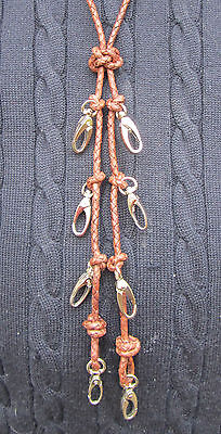 Fly Fishing Lanyard  Quality Leather (Over The Head) (Ref 0032)