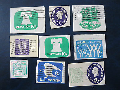 Usa Stamps Envelope/postal Card Cutouts Lot #2  Used
