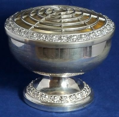 Beautiful Vintage Silver Plated Rose Bowl (Height - 13 cm)