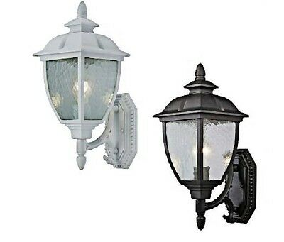 White or black Finish Outdoor Wall Light Fixture Lighting exterior