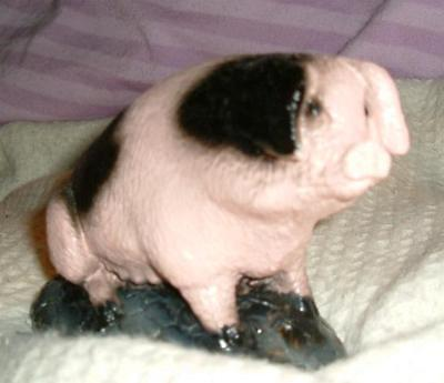 Pottery Pig ornament. Pottery pig
