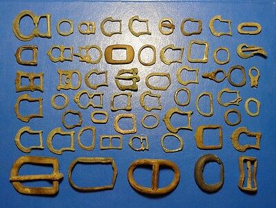 Lot Ancient Bronze Buckles  55 pieces.