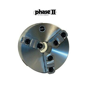 """Phase II 3 jaw 6"""" Lathe Chuck D1-4 Direct Mount 559-101"""