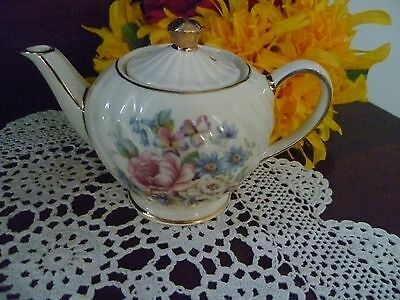 small  SADLER TEAPOT floral decoration