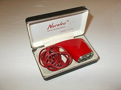Norelco portable Netherlands made flip top speed shaver with box used works