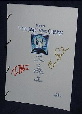 Movie Script - Cast Signed - Nightmare Before Christmas