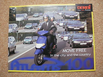Original Derbi Atlantis 100 scooter brochure year 2001