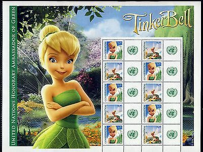 UN New York . 2012 Tinker Bell Disney Personalized Sheet . Mint Never Hinged