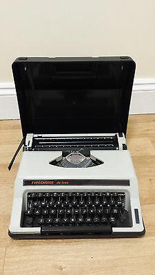 Typechoice de Luxe Typewriter in Case, Vintage, Used
