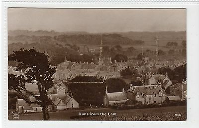 DUNS FROM THE LAW: Berwickshire postcard (C13112)