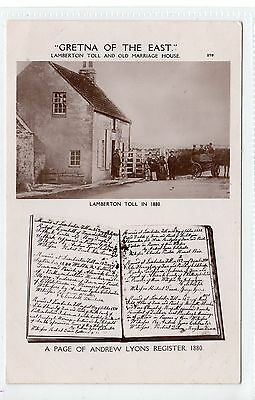 LAMBERTON TOLL AND OLD MARRIAGE HOUSE: Berwickshire postcard (C13253)