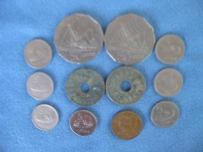 Collection of12 Coins from Fiji