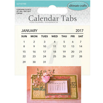 Ultimate Crafts - 2017 Calendar Tabs - Cream ULT157700