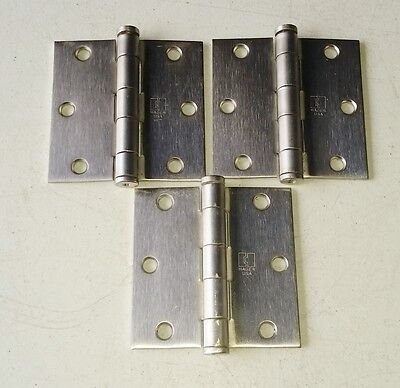 "Lot of 3 Hager 1191 Full Mortise Standard Door Hinges 3.5"" x 3.5"""