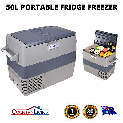 NEW 50L Portable Fridge Freezer Cooler Ice Caravan Boat Home Bar Shop Digital