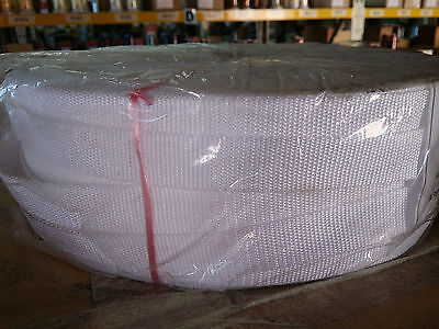 25mm / 2.5cm / 1 inch WHITE webbing / Strapping.  1 - 50 METRE Lengths