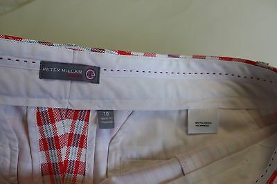 Women's Peter Millar Classic Golf Capris Size 10 Red and White Check