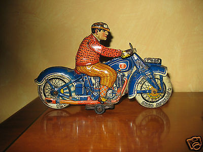 TIPPCO TIPP & CO TINPLATE MOTORCYCLE  GERMANY VINTAGE TIN TOY motorrad c1930 TCO