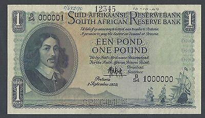 South African One Pound 2-9-1950 P93s Specimen Uncirculated