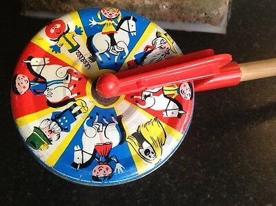 Vintage The Magic Roundabout Bell Push Pull Along 1960s Childrens Toy BBC Retro